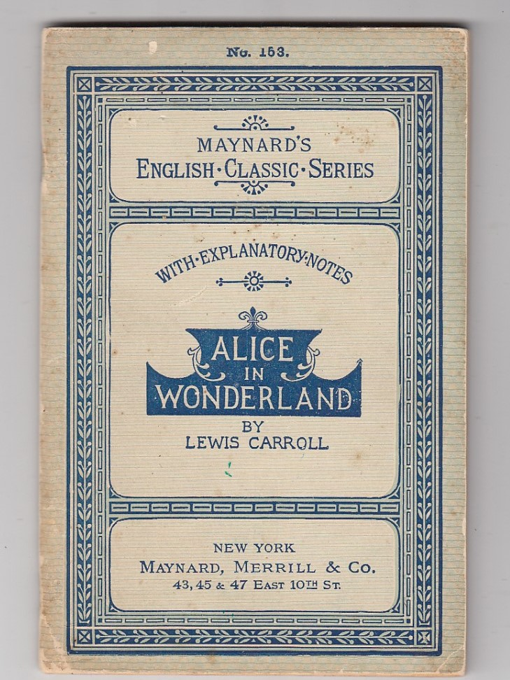 Alice In Wonderland (Specimen Copy in orignal wrappers). Lewis Carroll.
