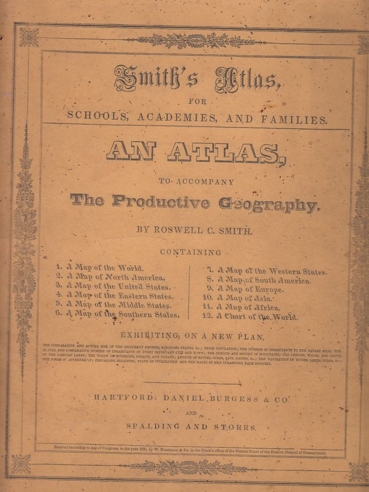 Smith's Atlas for Schools, Academies, and Families. Roswell C. Smith.