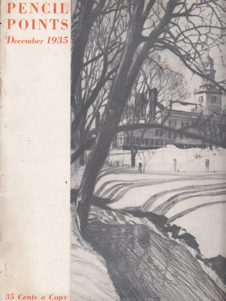Pencil Points, December 1935 (Vol. XVI, No. 12). Russell F. Whitehead.