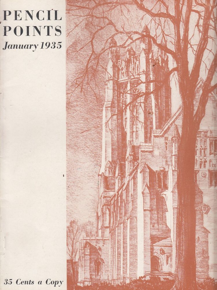 Pencil Points, January 1935 (Vol. XVI, No. 1). Russell F. Whitehead.
