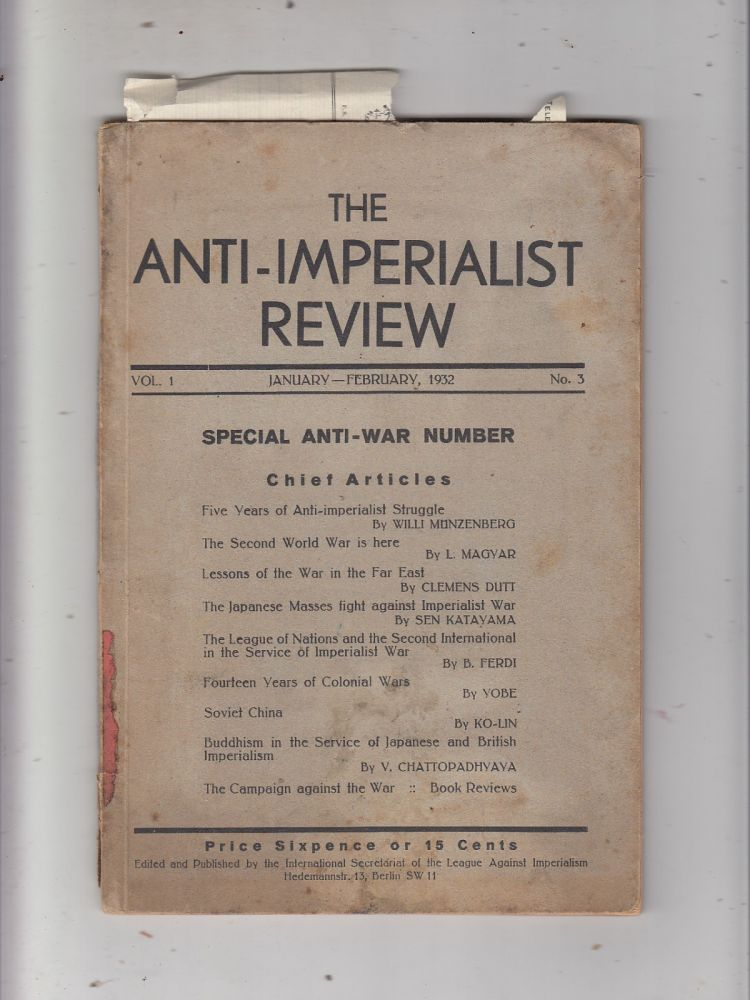 The Anti-Imperialist Review Vol. 1 No 3 (Jan-Feb 1932)