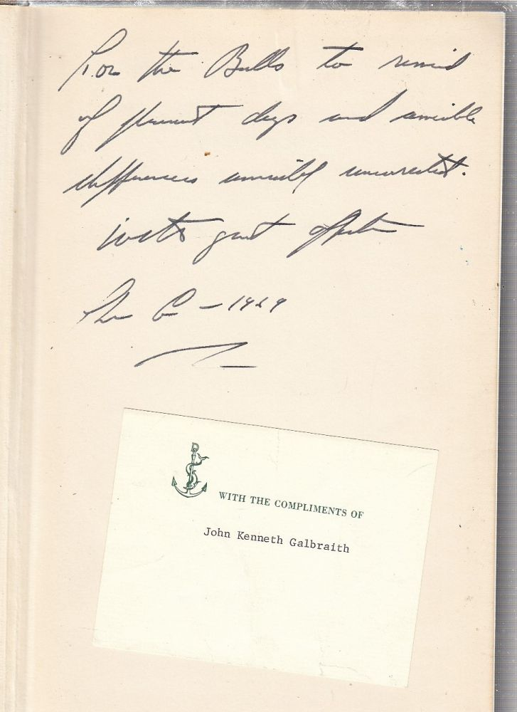 Ambassador's Journal: A Personal Account of the Kennedy Years (inscribed first edition). John Kenneth Galbraith.