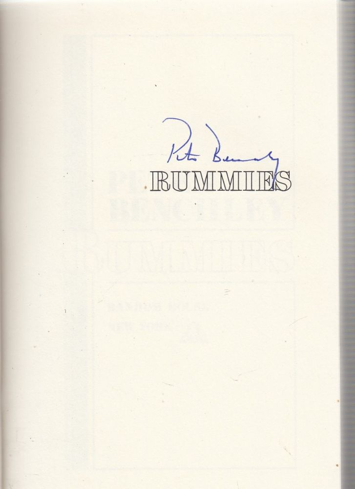 Rummies (signed first edition). Peter Benchley.
