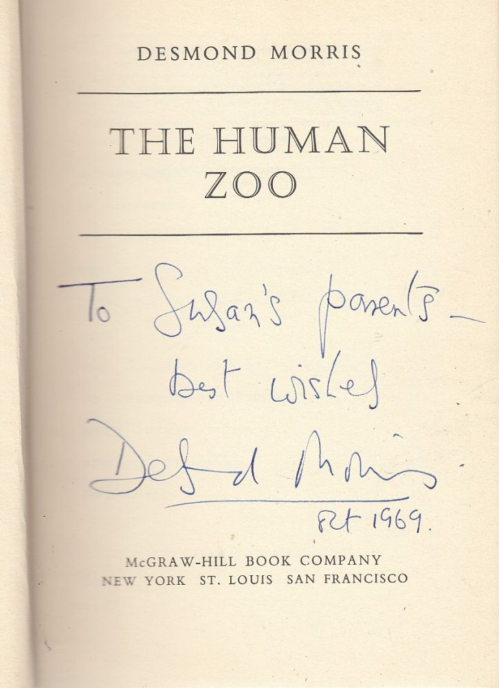 The Human Zoo (inscribed first edition). Desmond Morris.
