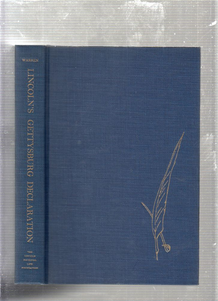 Lincoln's Gettysburg Declaration (presentation copy inscribed by the author). Louis A. Warren.