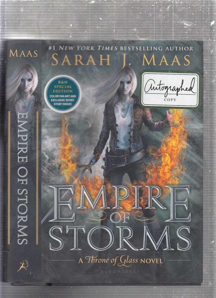 Empire of Storms (Throne of Glass) SIGNED BY THE AUTHOR. Sarah J. Maas.