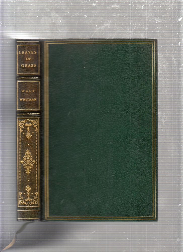 Leaves Of Grass (in fine signed binding by Maurin). Walt Whitman, Rockwell Kent.