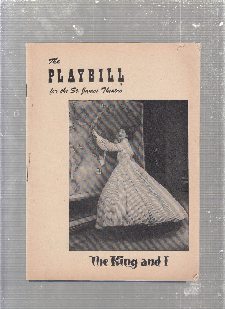 """1952 Playbill for """"The King and I"""" with original cast. Richard Rodgers, Oscar Hammerstein 2nd, Margaret Landon."""