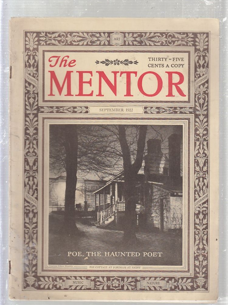 """The Mentor, September 1922 (with """"Poe, The Haunted Poet""""). Edgar Allan Poe, C. Alphonso Smith."""