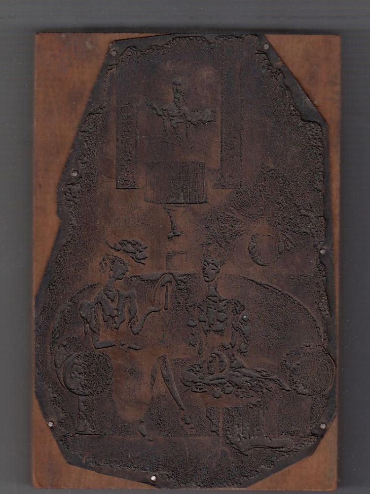 Original copper printing plate for a New Yorker Magazine drawing by Mary Petty. Mary Petty.
