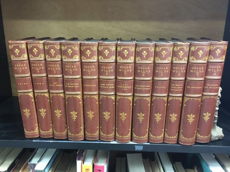 The Writings of Oscar Wilde in 12 vols. / Large Paper Edition, one of 525 sets only/ in fine binding. Oscar Wilde.