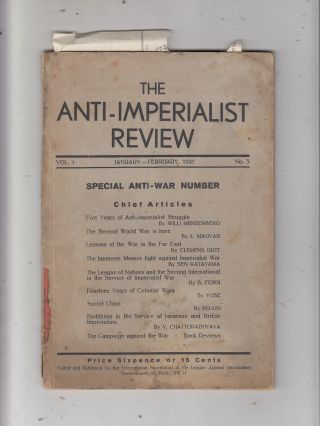 The Anti-Imperialist Review Vol. 1 No 3 (Jan-Feb 1932