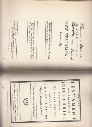 [auction catalog] A Noted Collection of Rare and Scarce Americana, Early American Biblesm Proyer Books and Hymnals, First American Editions and Early American Imprints (Sale No. 815, Oct. 19. 1898)
