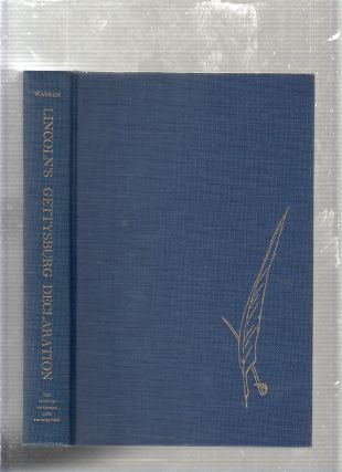 Lincoln's Gettysburg Declaration (presentation copy inscribed by the author). Louis A. Warren