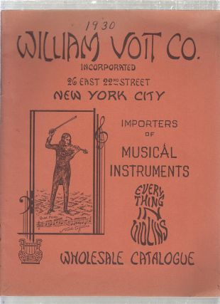 Musical Instrument catalogue) William Voit Co. Importers of Musical Instruments Wholesale...
