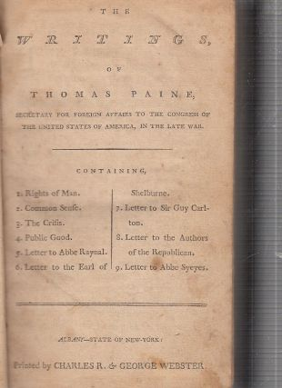 The Writings Of Thomas Paine, Secretary For Foreign Affairs To The Congress Of The United States...