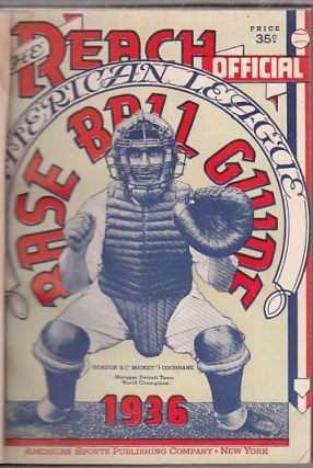 Reach American League BaseBall Guide for 1936 (Bill Veeck's Personal Copy). BASEBALL