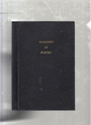 Poems For Speculative Masons. Hurd Edward P, Jr