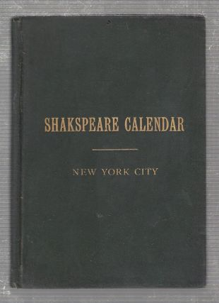 Events in the History of New York City with Illustrations from Shakespeare. A New Yorker, John B....