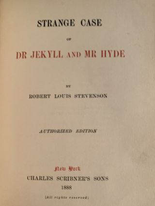 The Strange Case of Dr. Jekyll and Mr. Hyde (in fine binding)