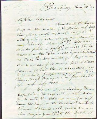 Handwritten letter dated June 24, (18)28 concerning Andrew Jackson's Presidential campaign in New...